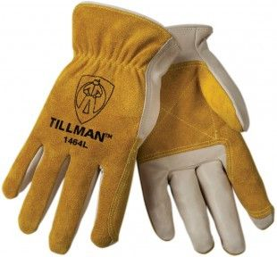 Tillman 1464 Double Palm Top Grain/Split Cowhide Drivers Gloves (1 Pair)