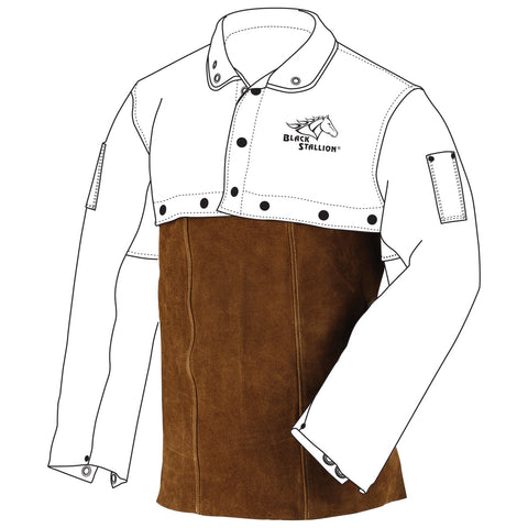 "Revco 14WB 14"" Split Cowhide Leather Welding Bib (1 Bib)"
