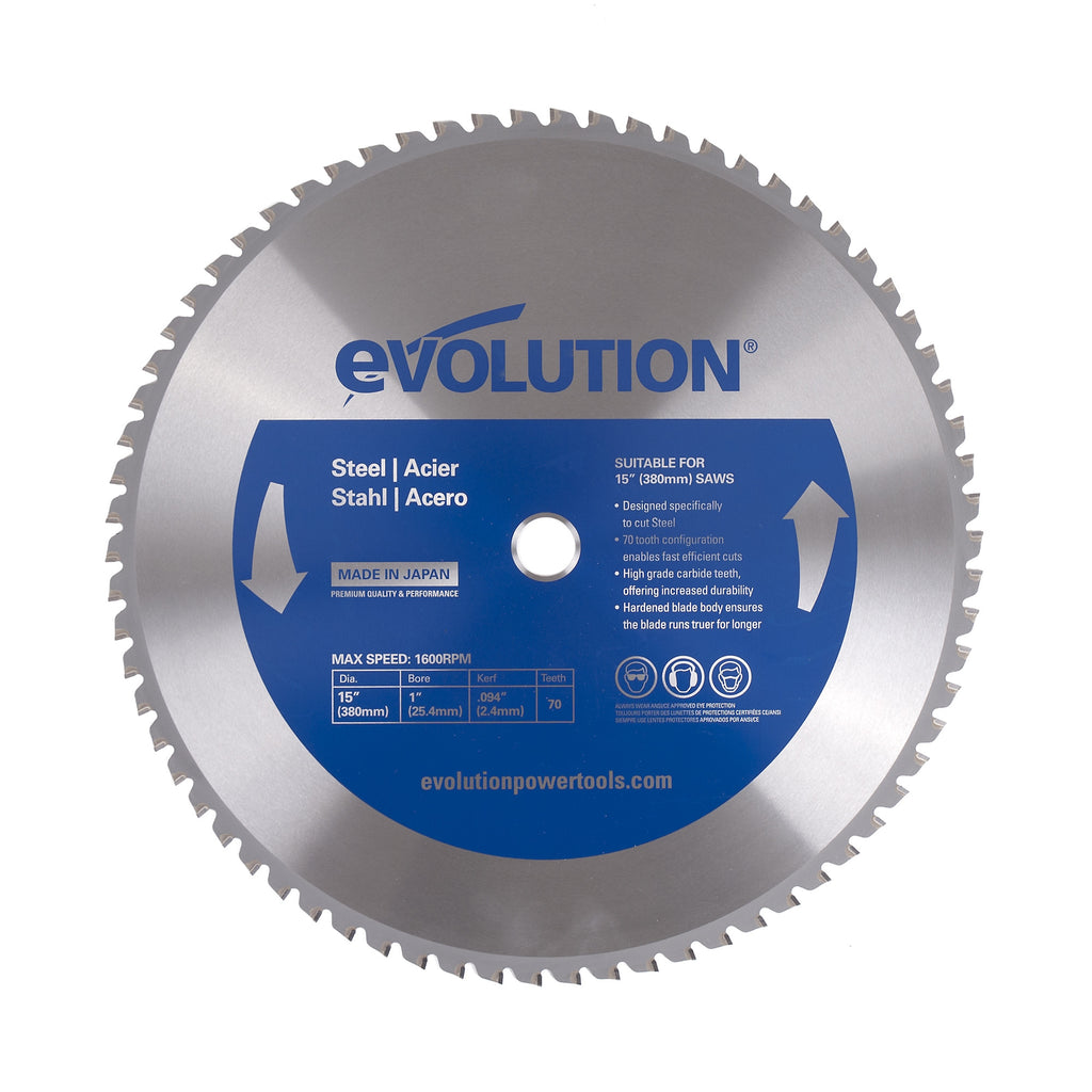 "Evolution 15BLADEST 15"" Saw Blade"