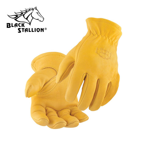 Revco 17 TOP GRAIN ELKSKIN -- ELASTIC WRIST DRIVER'S STYLE GLOVES