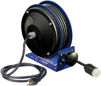 Coxreels PC10-3012-A PC10 Series Power Cord Reels, 12/3 AWG, 20 A, 30 ft, Single Receptacle (1 EA)