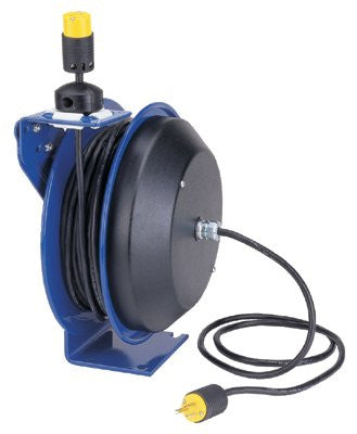 Coxreels PC13-5012-A PC13 Series Power Cord Reels, 12/3 AWG, 20 A, 50 ft, Single Industrial Plug