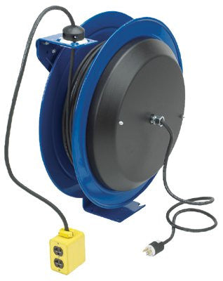 coxreels-pc13-5012-b-pc13-series-power-cord-reels,-12/3-awg,-20-a,-50-ft,-quad-industrial-receptacle