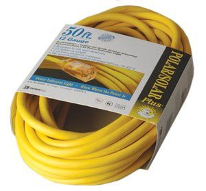 CCI 02308 Vinyl Extension Cord, 50 ft, 1 Outlet (1 EA)