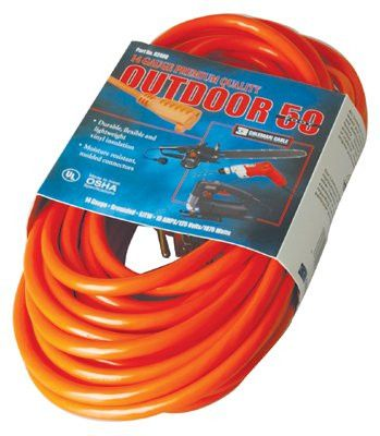 CCI 02589-0002 Vinyl Extension Cord, 100 ft, 1 Outlet (1 EA)