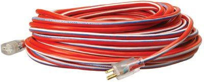 CCI 02548USA1 Stripes Extension Cord, 50 ft (1 EA)