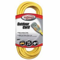 CCI 02587-88-02 Yellow Jacket Power Cord, 25 ft, 1 Outlet (1 EA)
