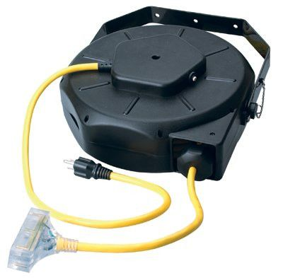 CCI 04820 Luma-Site Cord Reels with Lighted Tri Source, 50 ft, 3 Outlets (1 EA)