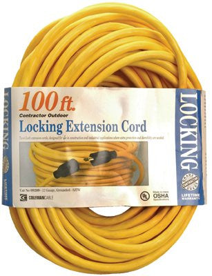 CCI 09209 Twist Lock Extension Cord, 100 ft, 1 Outlet (1 Each)