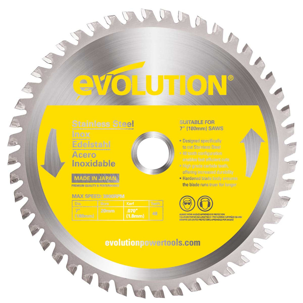"Evolution 180BLADESS 7"" Saw Blade"