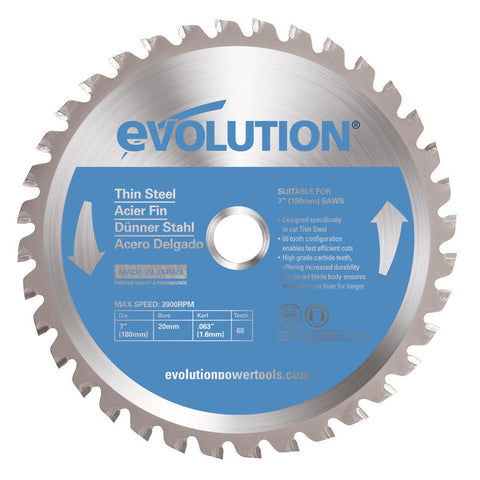 "Evolution 180BLADETS 7"" Saw Blade"