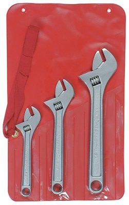 Crescent AC3 Three-Piece Adjustable Wrench Set, 6 in, 8 in, 10 in Lengths, Chrome (1 Set)