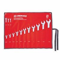 Crescent CCWS4 14 Piece SAE Combination Wrench Sets, 12 Points, SAE 1 ST