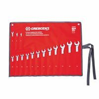 Crescent CCWS5 15 Piece Metric Combination Wrench Sets, 12 Points, Metric 1 ST