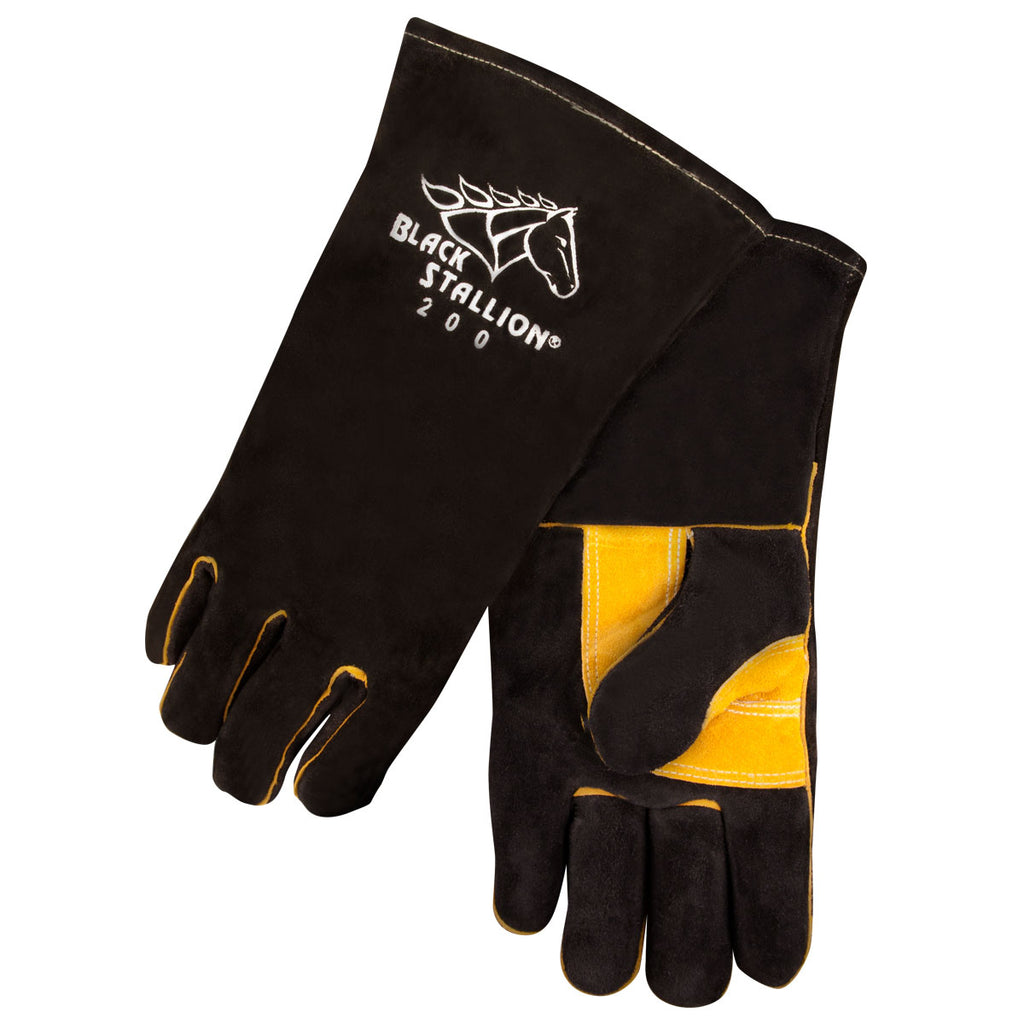 Revco 200 Black Side Split Cowhide Stick Glove w/ CushionCore™ Liner (1 Pair)