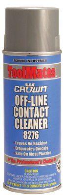 Crown 8276 Off-Line Contact Cleaners, 10.9 oz Aerosol Can (12 Cans)