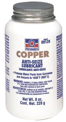 Permatex 09128 Copper Anti-Seize Lubricants, 8 oz Brush Top Bottle (1 Bottle)