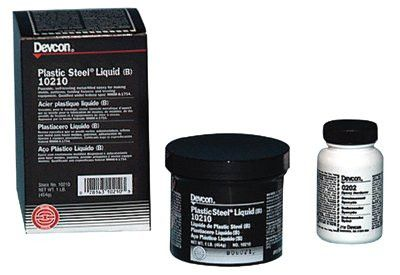 Devcon 10210 Dark Grey Plastic Steel Liquid (B) - 1 lb Can (1 Can)