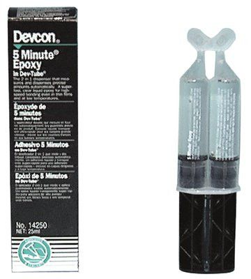 devcon-14250-5-minute-epoxy,-25-ml-dev-tube,-light-amber