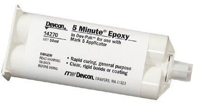 Devcon 14270 50 mL Dev-Pak Light Amber 5 Minute Epoxy (1 Tube)