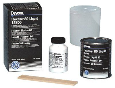 Devcon 15800 1 lb Can of Black Flexane 80 Liquid (1 Can)