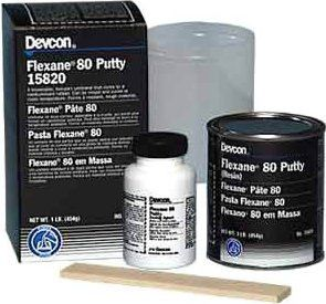 Devcon 15850 4 lb can of Black Flexane 80 Putty (1 Can)