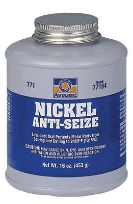 Permatex 77124 Nickel Anti-Seize Lubricants, 8 oz Brush Top Bottle (1 Bottle)