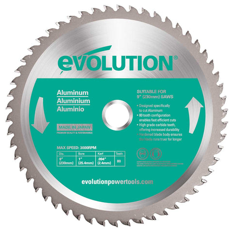 "Evolution 230BLADEAL 9"" Saw Blade"