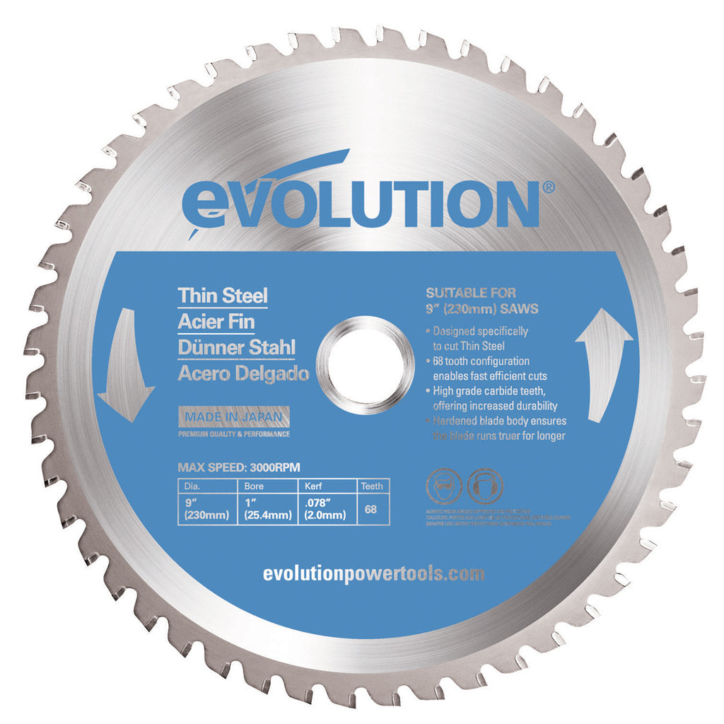 "Evolution 230BLADETS 9"" Saw Blade"