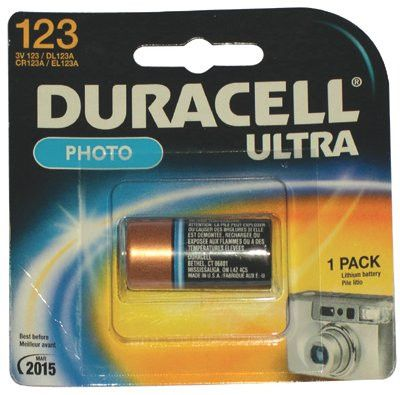 Duracell DL123ABPK 3 V 123 Duracell Procell Lithium Cell Batteries - 1 per Pack (6 Packs)