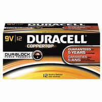Duracell MN1604BKD 9V DuraLock Power Preserve CopperTop Alkaline Batteries - 12 per Box (1 Pack)