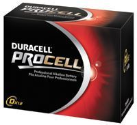 Duracell PC1604BKD 9V Non-Chargeable Dry Cell Duracell Procell Alkaline Batteries - 12 per box (1 Box)