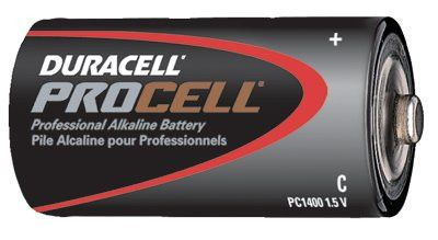 Duracell PC1400 1.5 V C Non-Rechargeable Duracell Procell Alkaline Batteries - 12 per Box (1 Box)
