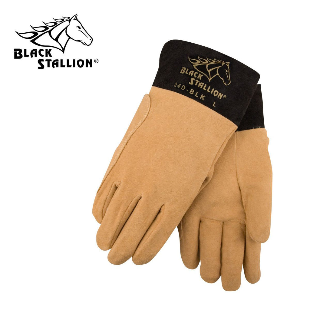 Revco 24D-BLK Black Stallion® Deerskin TIG Welding Gloves
