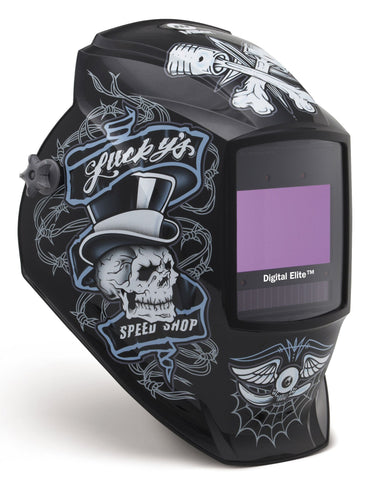 Miller 281001 Lucky's Speed Shop Digital Elite ClearLight Lens Welding Helmet
