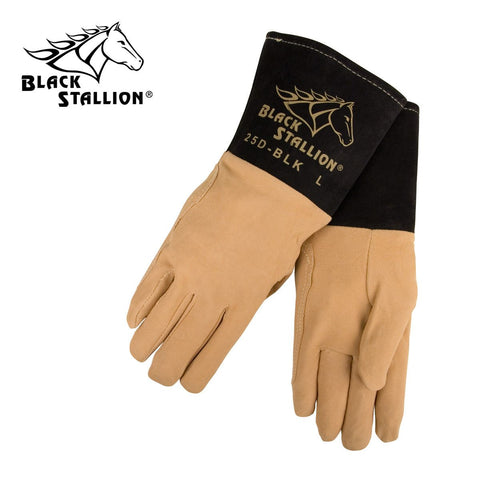 Revco 25D-BLK Black Stallion® Deerskin TIG Welding Gloves