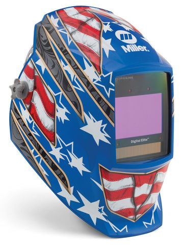 Miller 281002 Stars and Stripes Digital Elite ClearLight Lens Welding Helmet