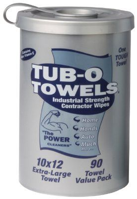 Gasoila Chemicals TW90 Tub-O Towels Multi Purpose Towels, Orange, Canister, 45 oz (1 EA)
