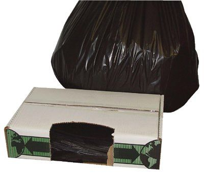 FlexSol ECO60SXH Linear Low-Density Economy Ecosac Liners, 55 gal, 2 mil, 38 X 60, Black 50/Case (1 Case)