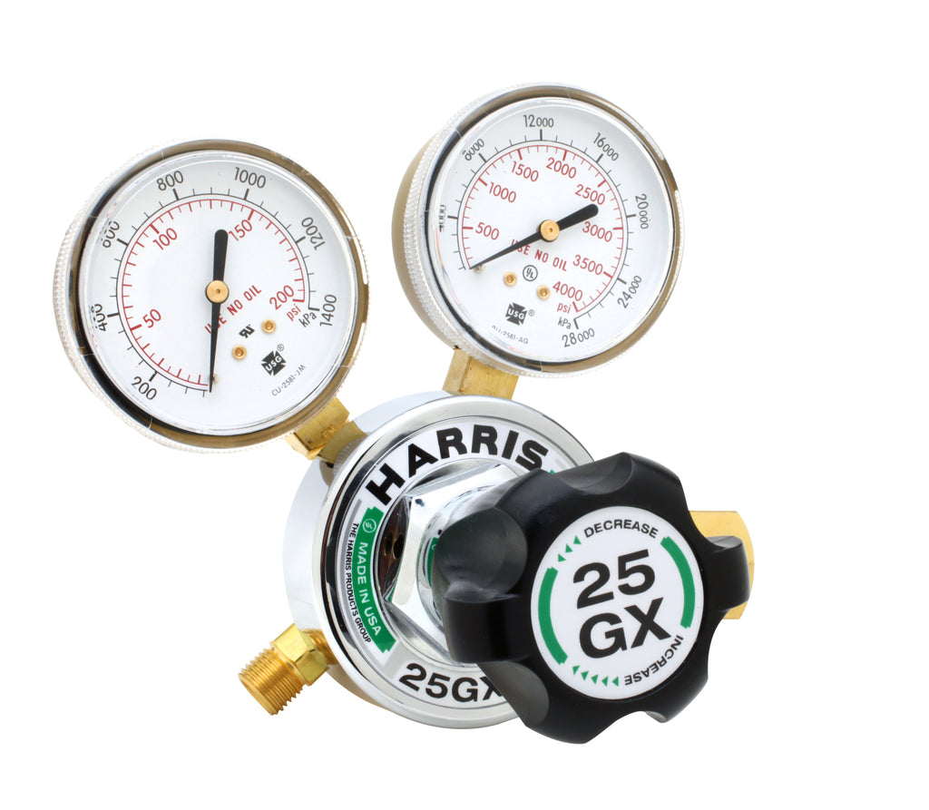 Harris 3000616 25GX-250-580 Single-Stage HVAC Purging Regulator (1 Regulator)
