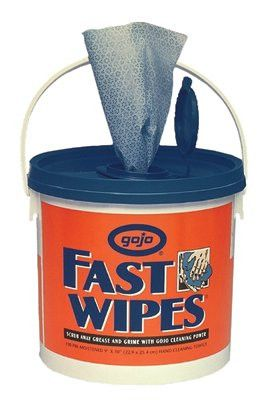 gojo 6298 04 fast wipes citrus wet wipe bucket hand cleaning towels