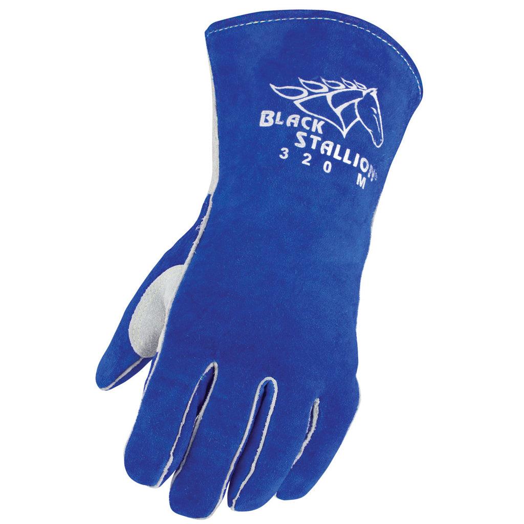 Revco 320LH Black Stallion® Side Split Cowhide Stick Glove w/ CushionCore™ Liner - Left Hand ONLY (1 Glove)