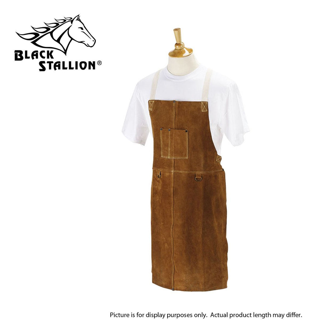 Revco 36A SIDE SPLIT COWHIDE LEATHER 36 INCH WELDING BIB APRON