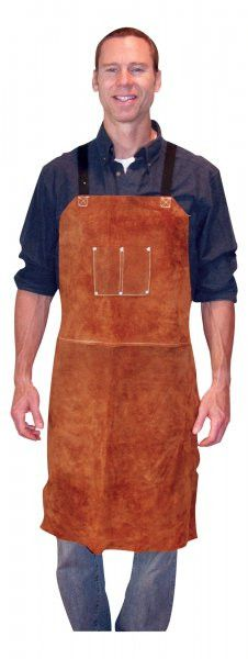 "Tillman 3836 24"" x 36"" Premium Dark Brown Leather Bib Apron (1 Bib Apron)"