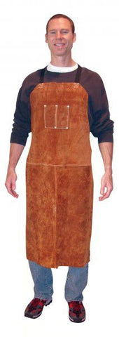 "Tillman 3842 24"" x 42"" Premium Dark Brown Leather Bib Apron (1 Apron)"