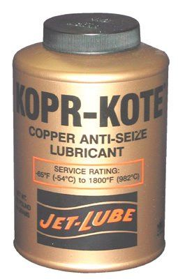 Jet-Lube 10002 High Temperature Anti-Seize & Gasket Compounds, 1/2 lb Can (1 Can)