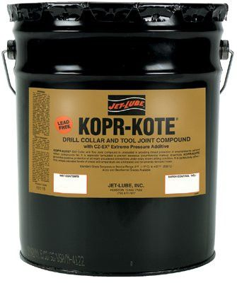 Jet-Lube 10115 Kopr-Kote Oilfield Drill Collar and Tool Joint Compound, 5 Gal (1 Pail)