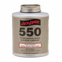 Jet-Lube 15504 550 Nonmetallic Anti-Seize Compounds, 1 lb Brush Top Can (12 Cans)