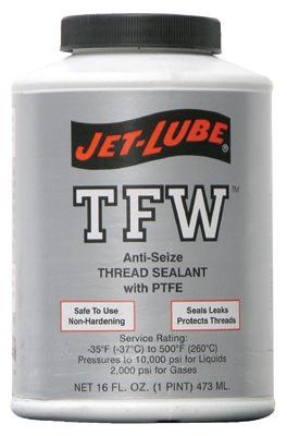 Jet-Lube 24004 TFW Multi-Purpose Thread Sealants, 1 pt Can, White (1 Can)