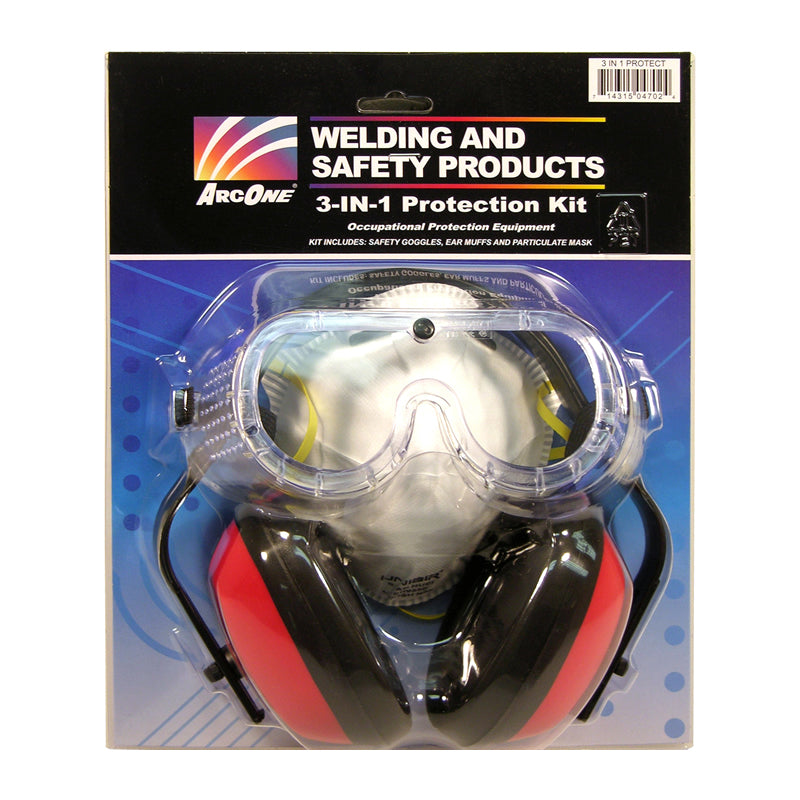 ArcOne 3N1P 3-IN-1 Eye, Hearing and Respiratory Protection Kit (1 Kit)